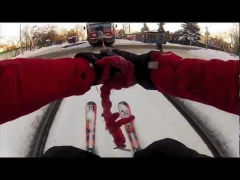 VIDEO: Evo kako se skija po pruzi!