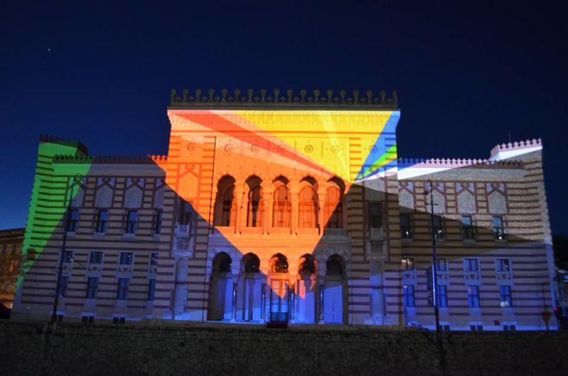 3D mapping projekcijom završen program otvaranja Vijećnice