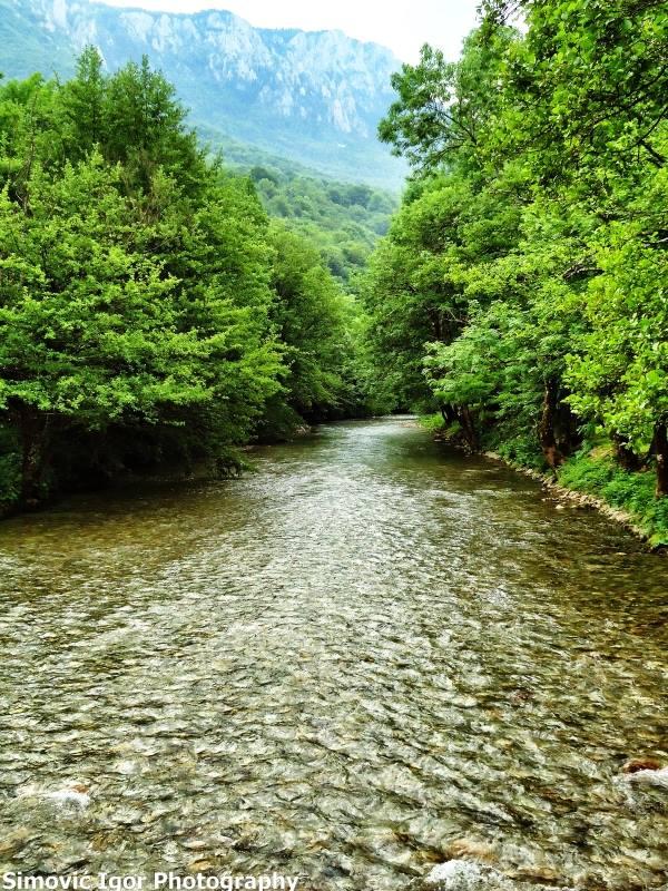 Foto: Rijeka Sutjeska i bazen na Tjentištu