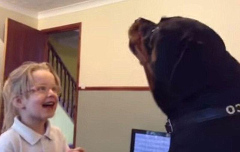 Moj ljubimac ima talenat: Djevojčica i rotvajler pjevaju zajedno