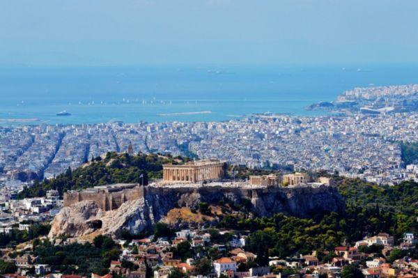 Akropolis i Atina panorama